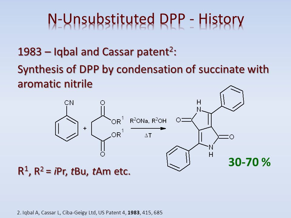 N-Unsubstituted DPP - History