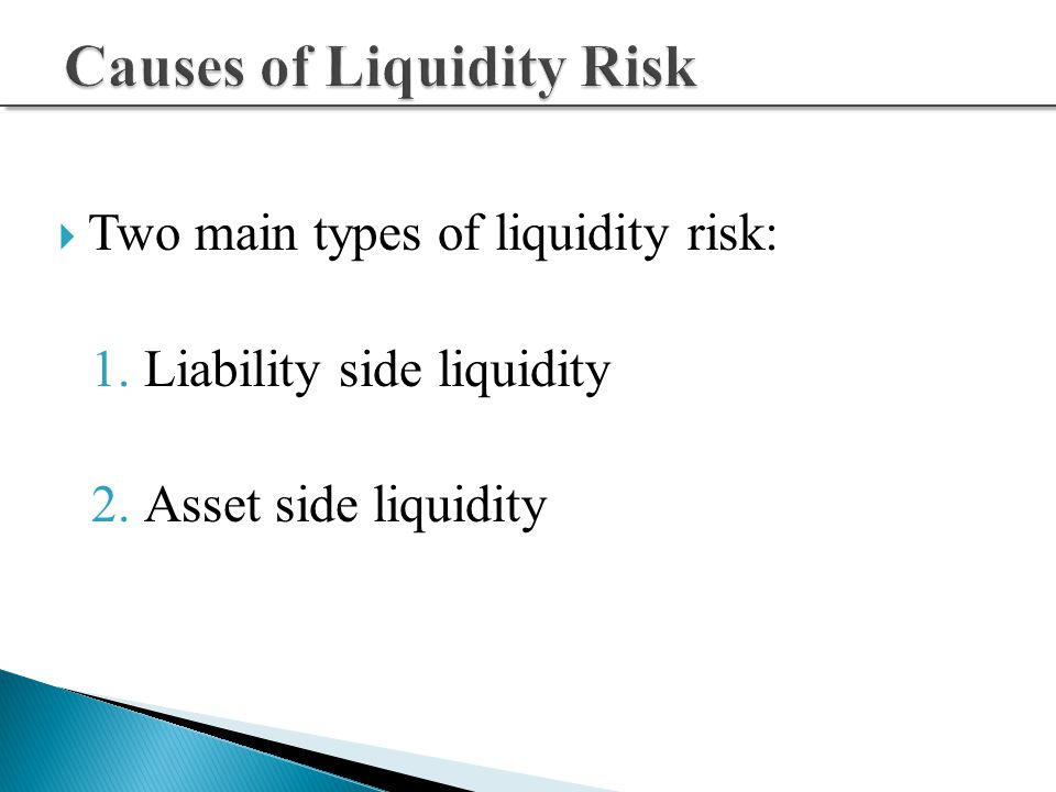 types of liquidity risk