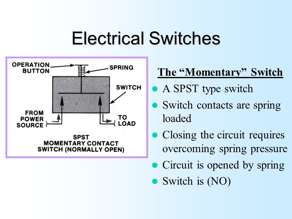 momentary contact switch wiring diagram all wiring diagram Electrical Contact Diagram bex100 basic electricity ppt video online download dpdt switch wiring diagram to two loads momentary contact switch wiring diagram