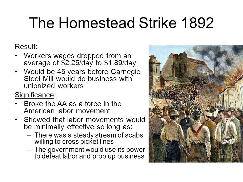 result of homestead strike