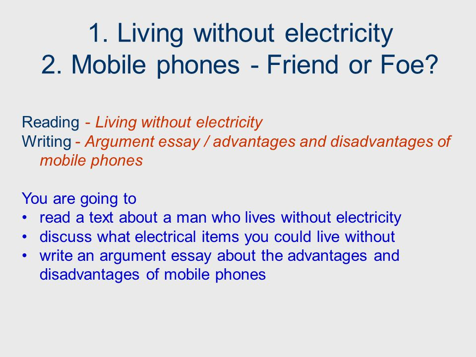 paragraph on life without mobile phones