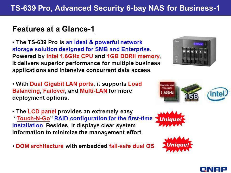 TS-639 Pro, Advanced Security 6-bay NAS for Business-1