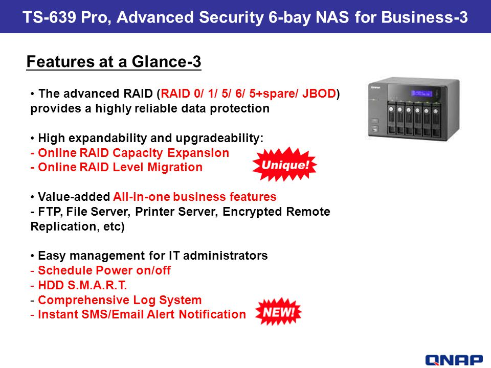 TS-639 Pro, Advanced Security 6-bay NAS for Business-3