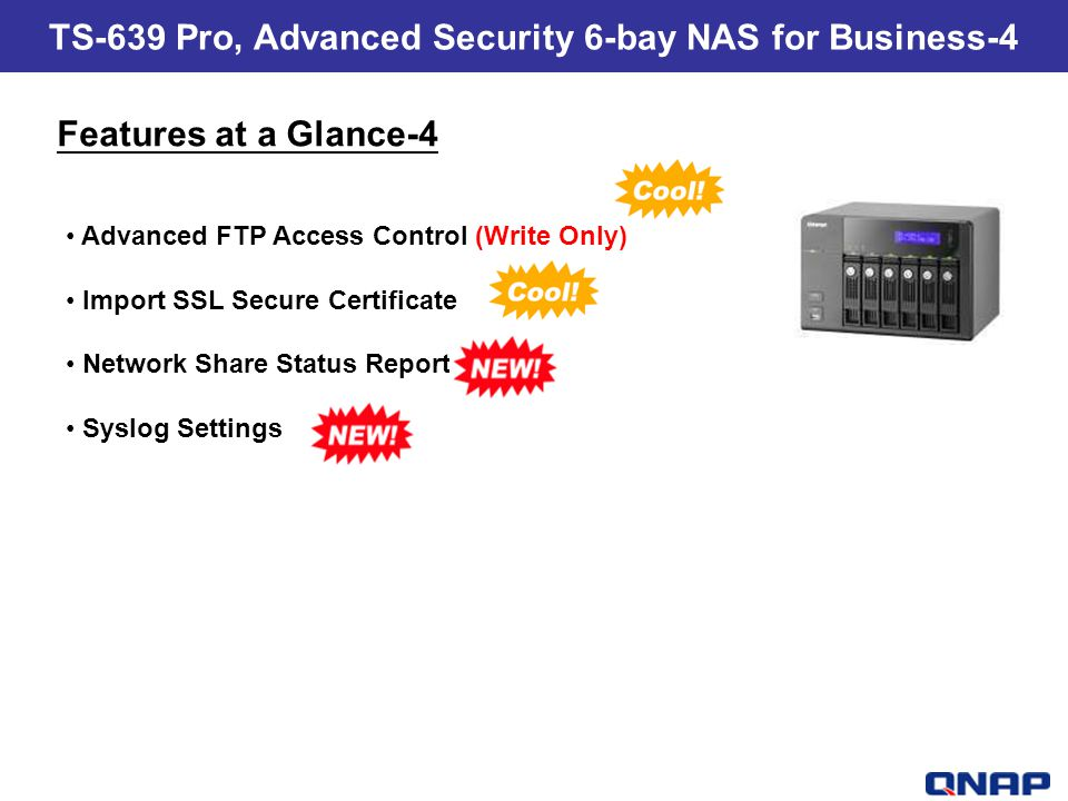 TS-639 Pro, Advanced Security 6-bay NAS for Business-4