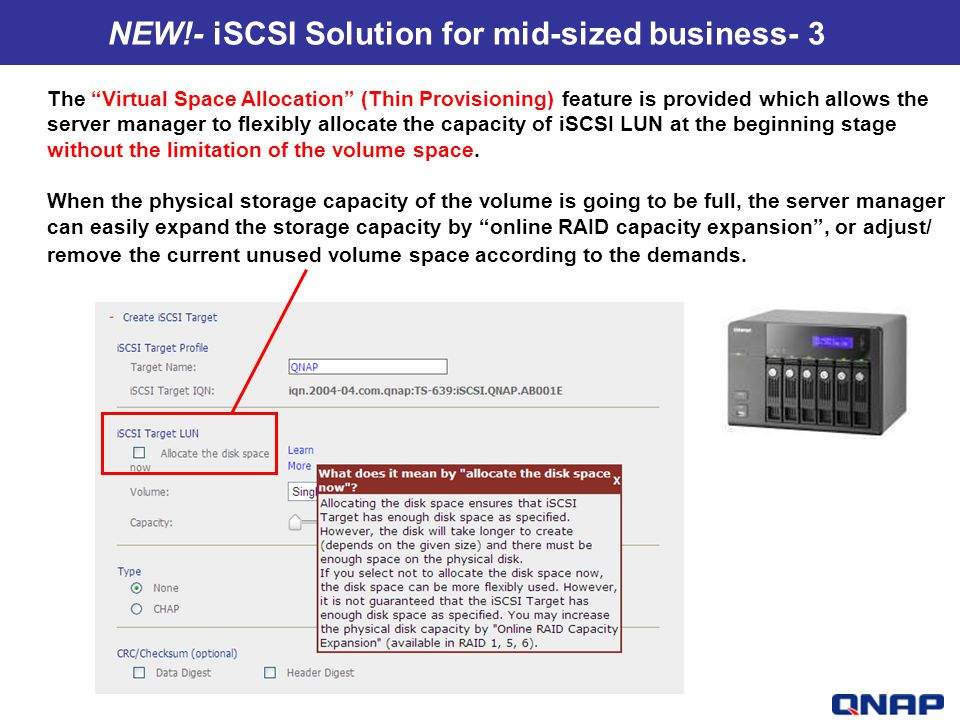 NEW!- iSCSI Solution for mid-sized business- 3