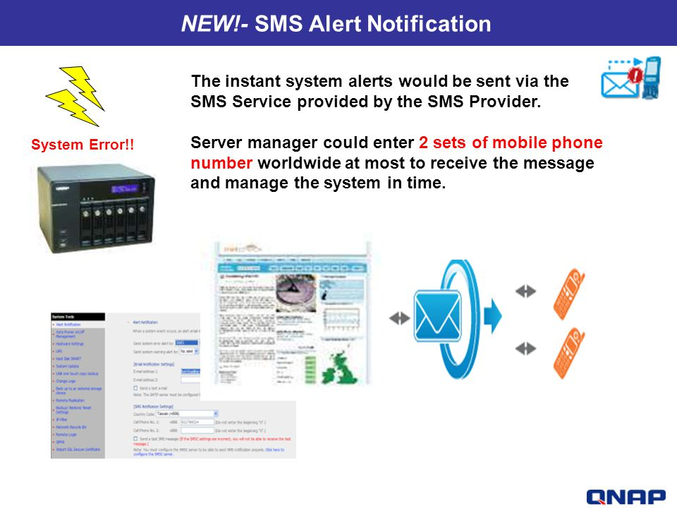 NEW!- SMS Alert Notification