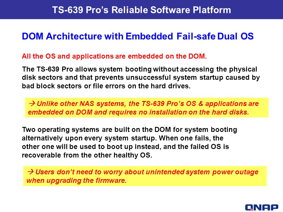 TS-639 Pro's Reliable Software Platform