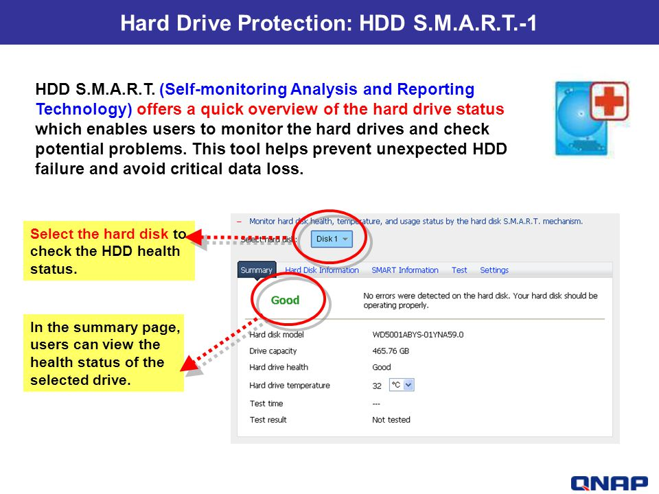 Hard Drive Protection: HDD S.M.A.R.T.-1