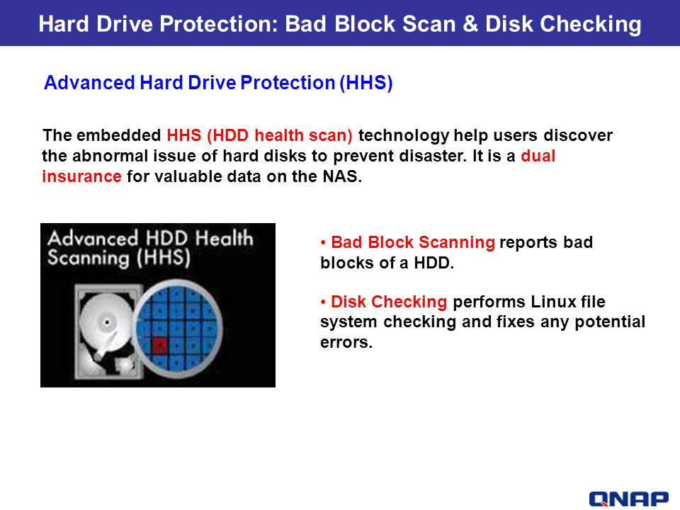 Hard Drive Protection: Bad Block Scan & Disk Checking