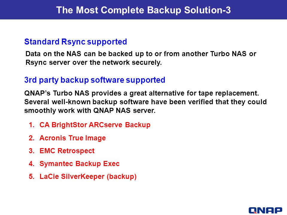 The Most Complete Backup Solution-3