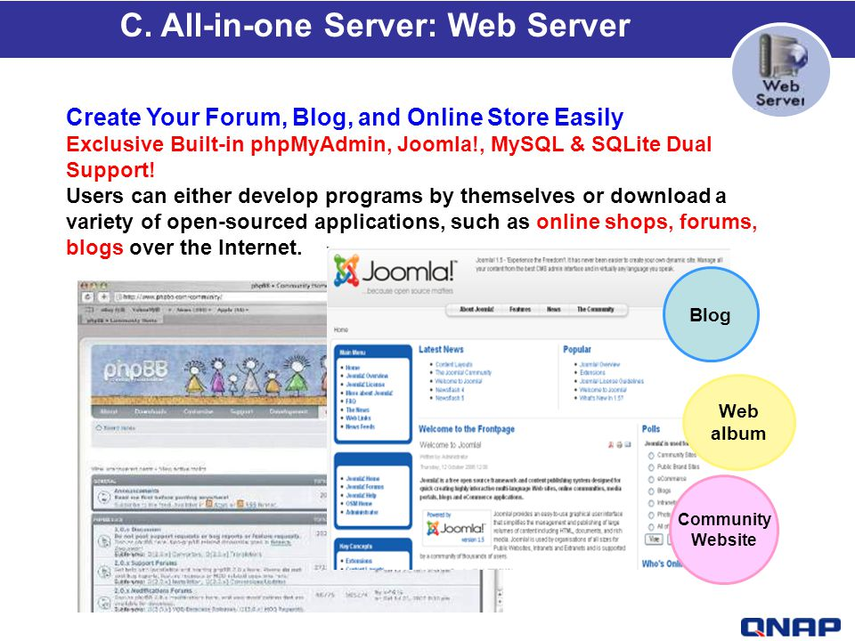 C. All-in-one Server: Web Server