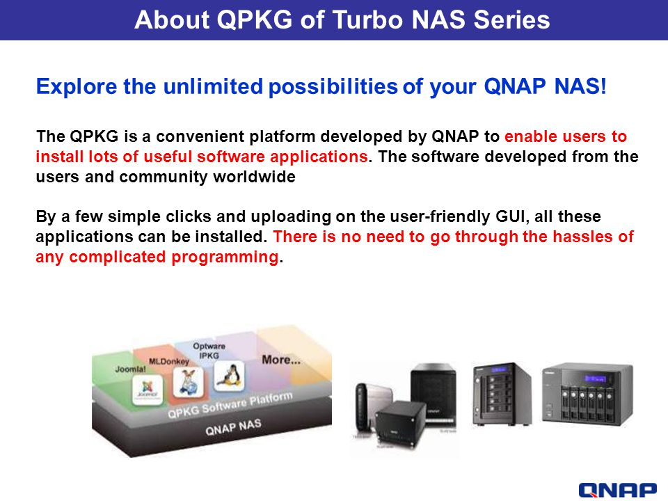 About QPKG of Turbo NAS Series