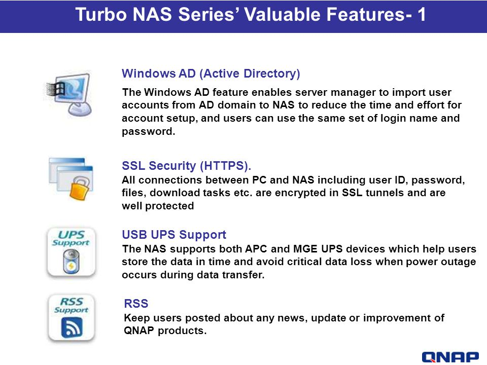 Turbo NAS Series' Valuable Features- 1