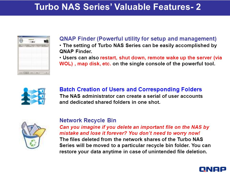 Turbo NAS Series' Valuable Features- 2
