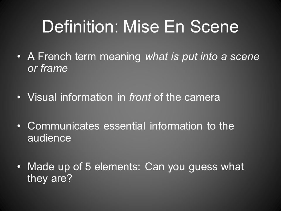 mise meaning