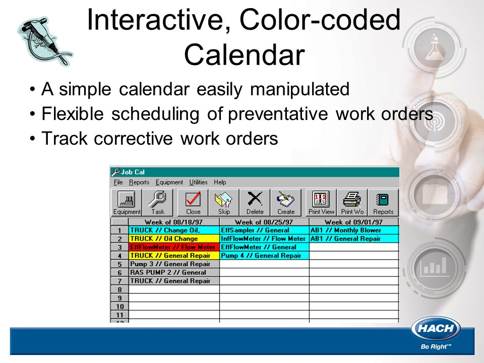 Interactive, Color-coded Calendar