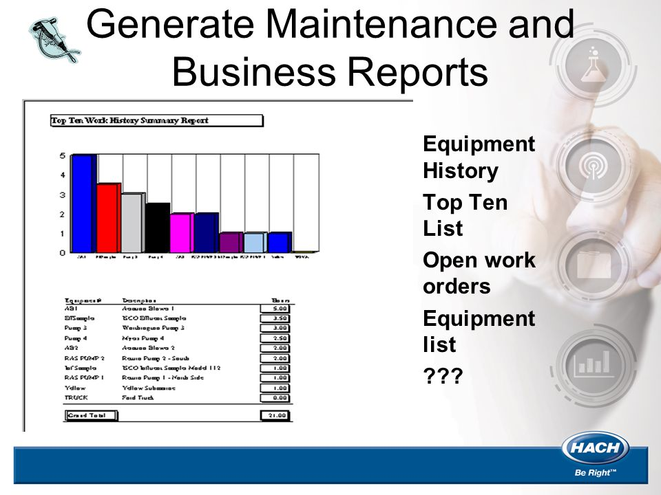 Generate Maintenance and Business Reports