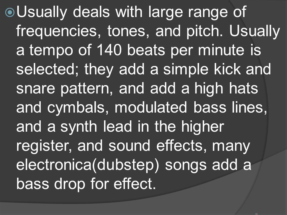 ELECTRONIC MUSIC  - ppt video online download