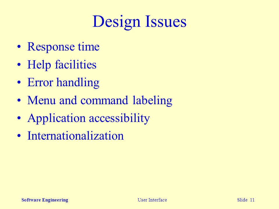 Software Engineering User Interface Ppt Video Online Download
