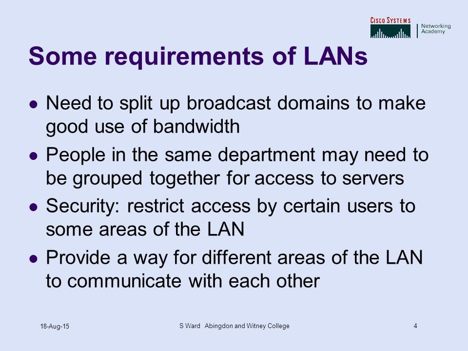 VLANs ppt CCNA Exploration Semester 3 Chapter 3 - ppt video online