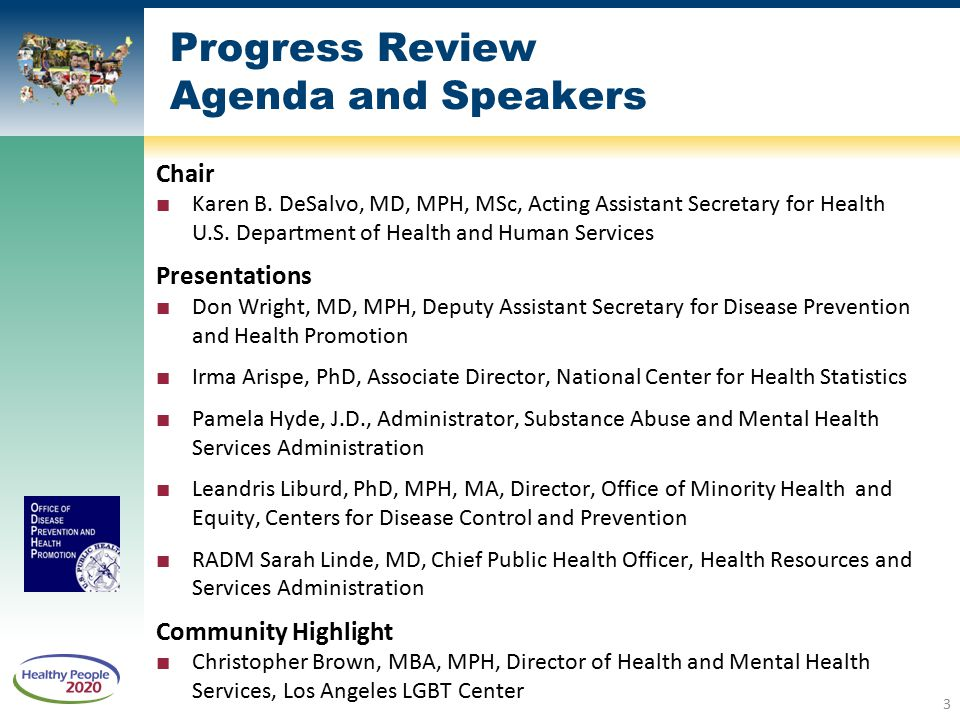 Healthy People 2020 Progress Review: Social Determinants of