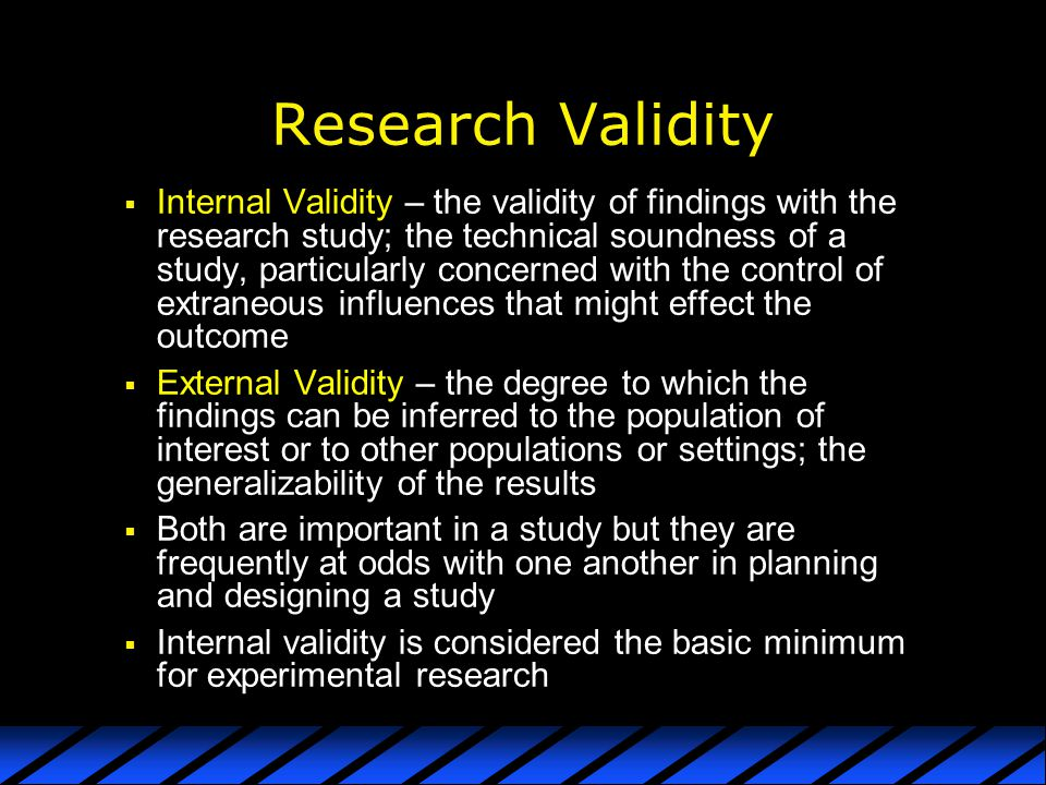 Research Validity