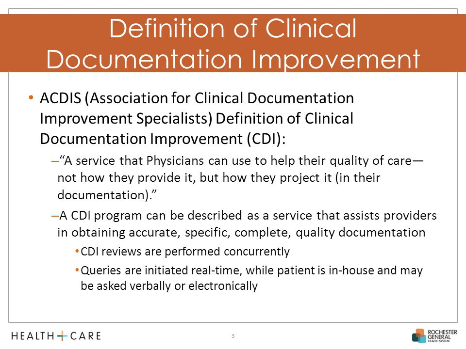 Definition Of Clinical Documentation Improvement