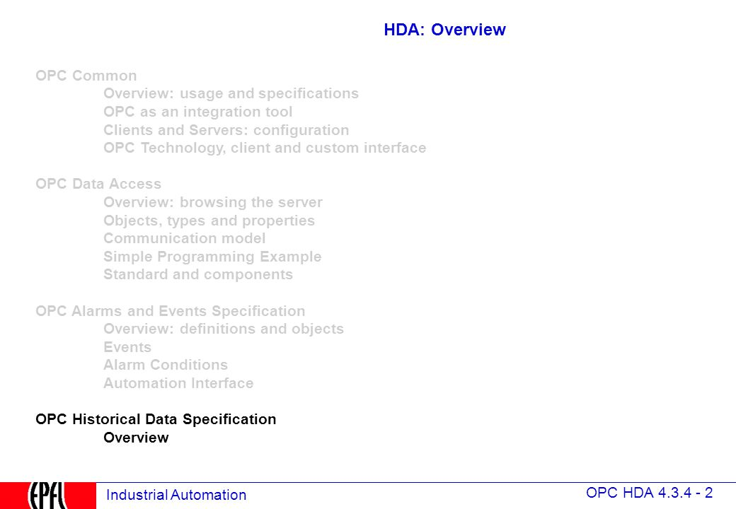 4 3 4 OPC Historical Data Access - ppt video online download