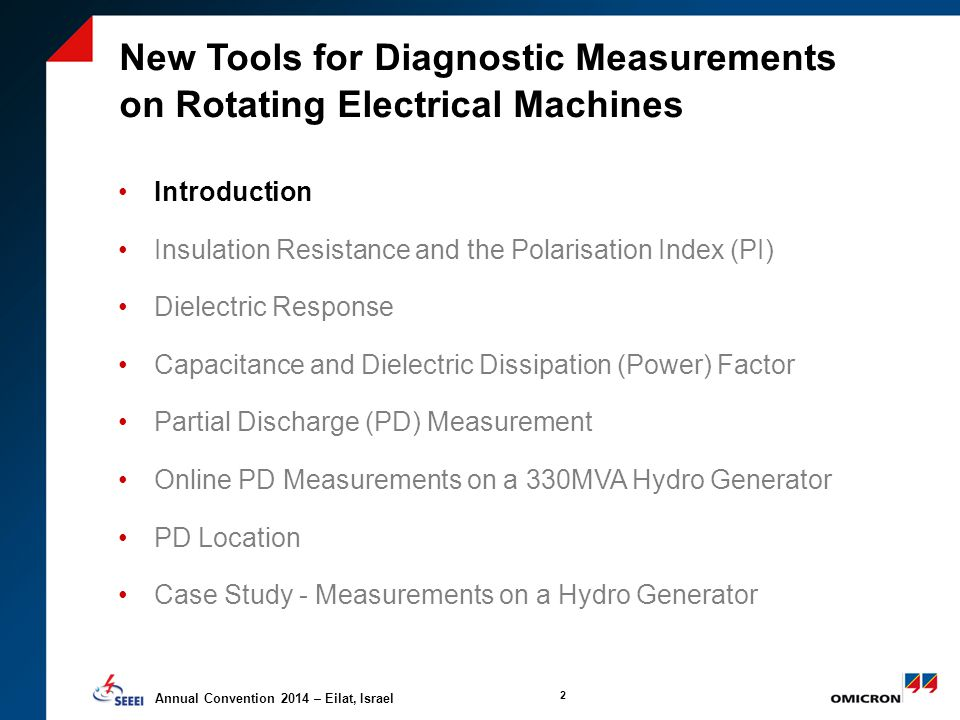 NEW TOOLS FOR DIAGNOSTIC MEASUREMENTS ON ELECTICAL ROTATING
