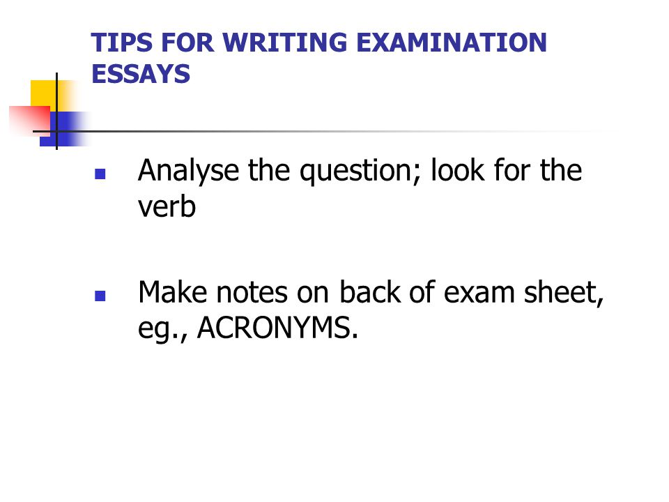 Tips For Writing Examination Essays  Ppt Video Online Download Tips For Writing Examination Essays English Literature Essay Structure also Politics And The English Language Essay  Essay Thesis Example