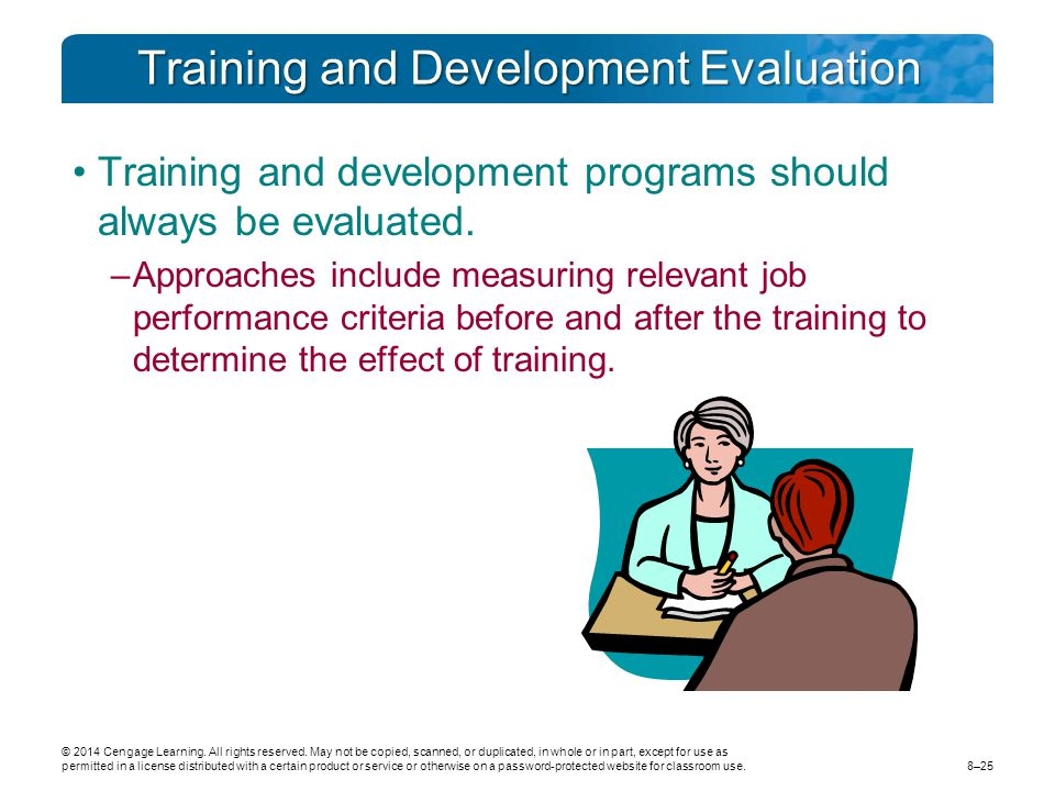 Training and Development Evaluation
