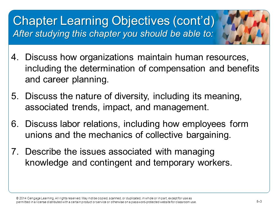 Chapter Learning Objectives (cont'd) After studying this chapter you should be able to: