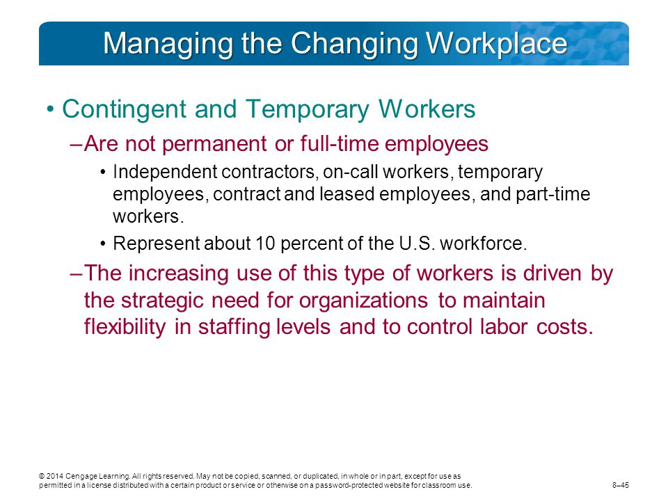 Managing the Changing Workplace