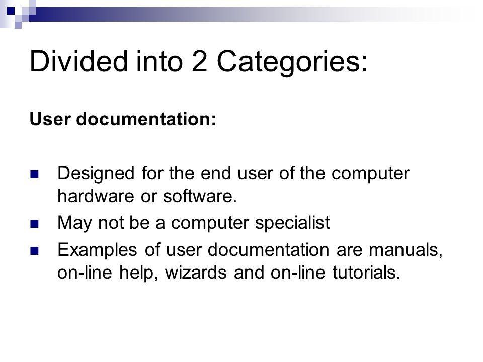 Create User Documentation - ppt video online download