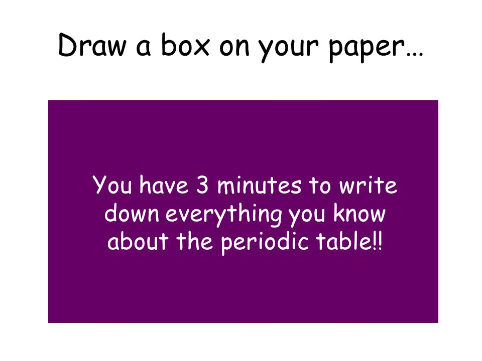 Draw a box on your paper…