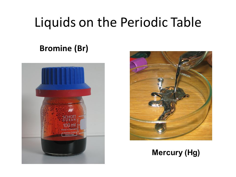 Liquids on the Periodic Table