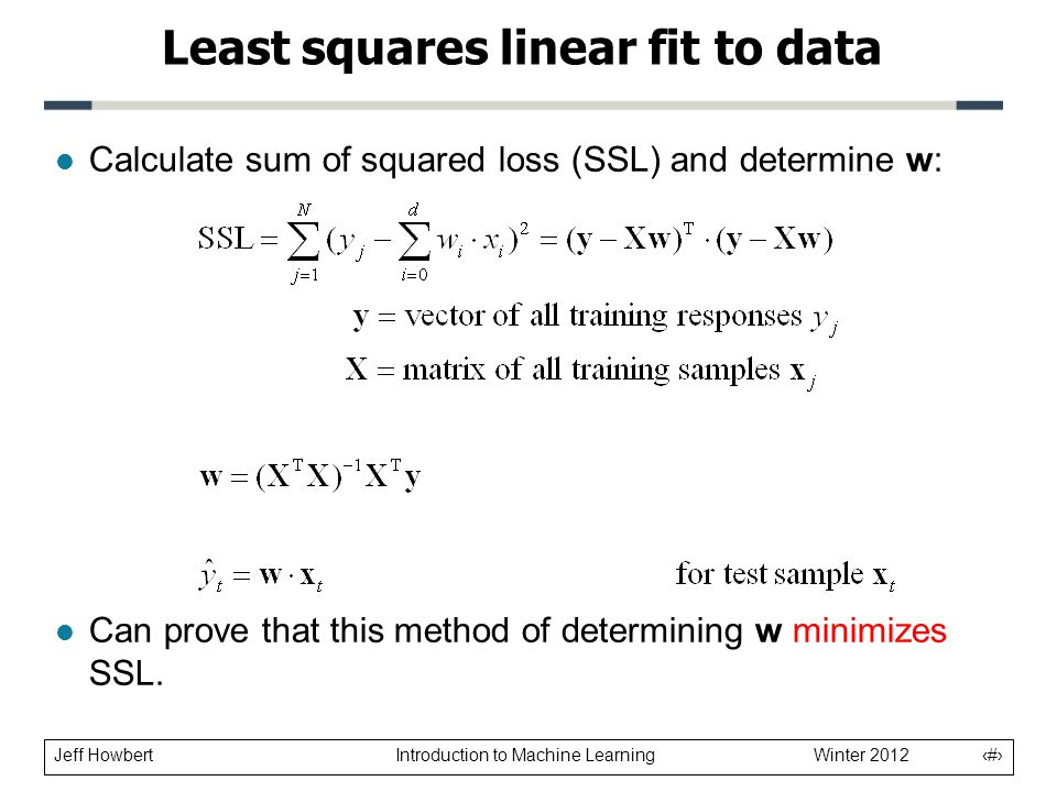 how to find sum of squares error linear model