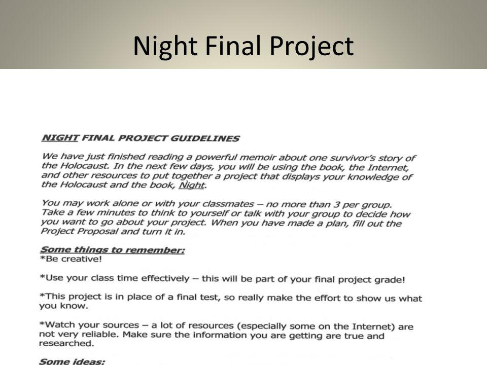 night elie wiesel ppt download rh slideplayer com Answer 2 Answer 9