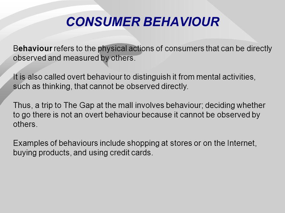 Consumer buying behavior examples.