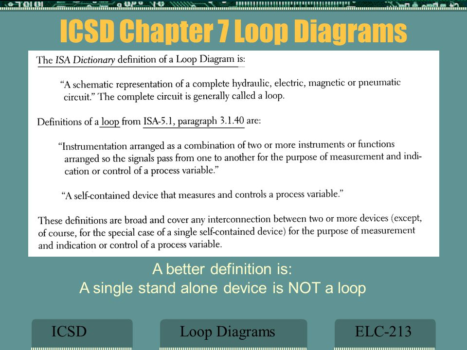 Presentation by clifford t johnson pe control systems engineer icsd chapter 7 loop diagrams ccuart Image collections