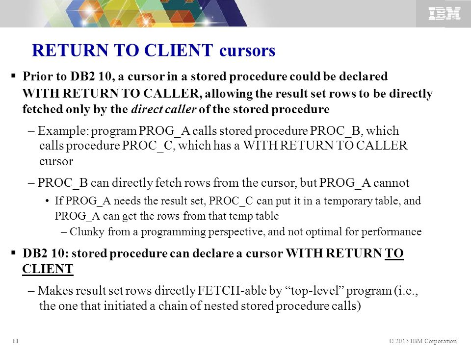 Idug: blogs: the (unknown) benefits of fetch first in db2 for z.