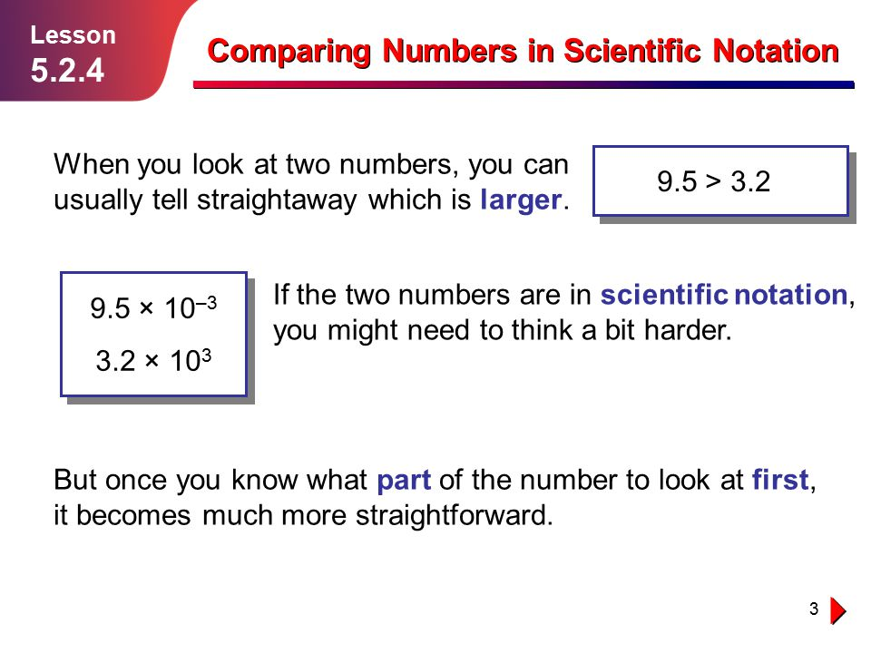 Comparing Numbers in Scientific Notation - ppt video online download