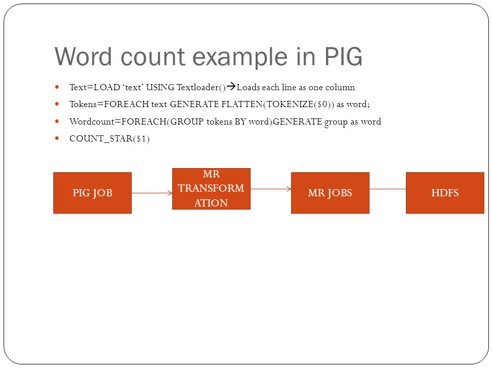 Word count example in PIG