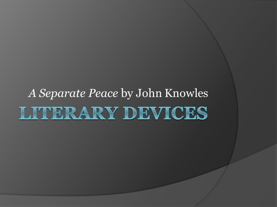 examples of imagery in a separate peace