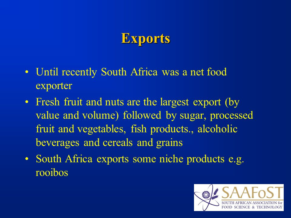The South African Food Industry Opportunities to be explored