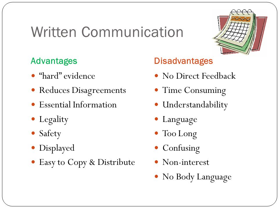 Written Communication