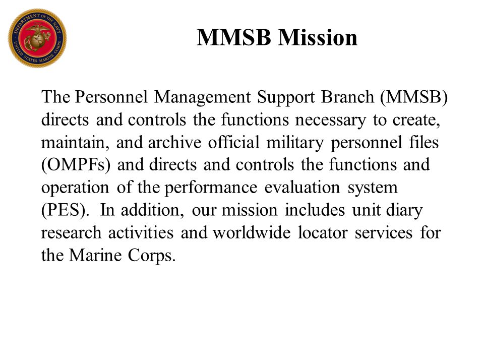 performance evaluation system pes ppt download rh slideplayer com marine corps pes manual pdf marine corps pes manual 2015