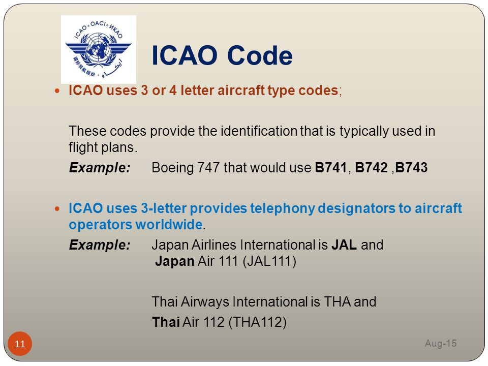 Airlines Letter Icao Code