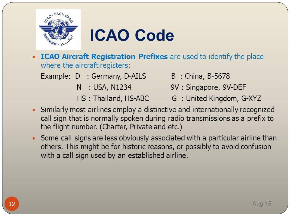 iata aircraft registration codes