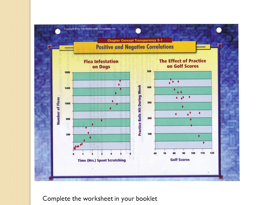 Complete the worksheet in your booklet